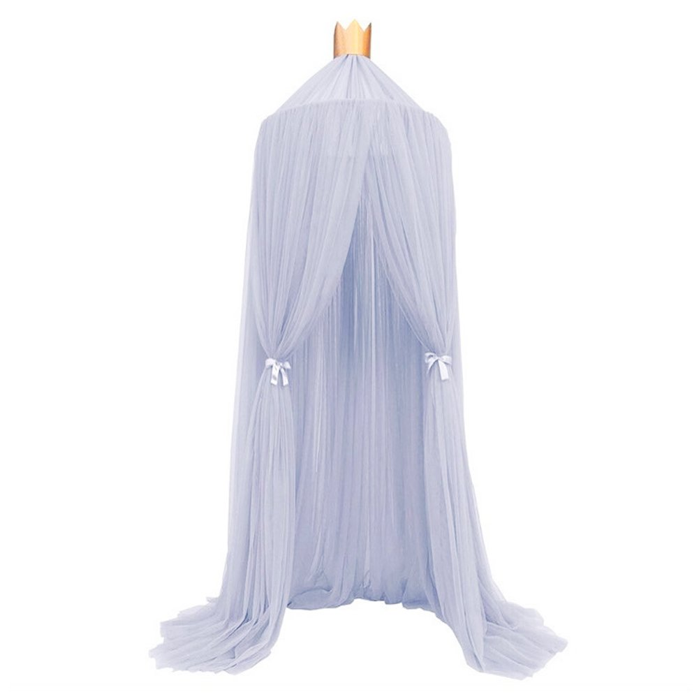 Kids Mosquito Net, Sundlight Lace Bed Canopy Yarn Play Tent Bedding Children Round Lace Dome Netting Curtains for Kids Playing Reading