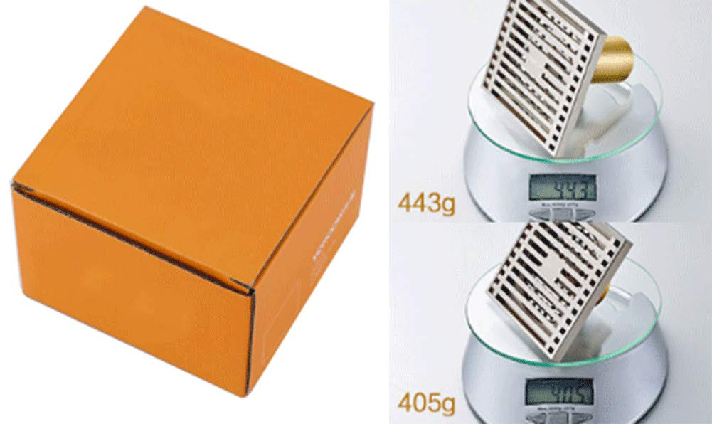 Brass Floor Drain Shower Drain Floor Drain - Square Kitchen Waste Drain Bathroom Deodorant Grate Drain Strainer Cover Grate,B by GPF (Image #6)