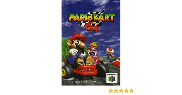 mario kart 64 n64 instruction booklet nintendo 64 manual only rh amazon com Mario Kart 64 Maps mario kart 64 instruction manual pdf