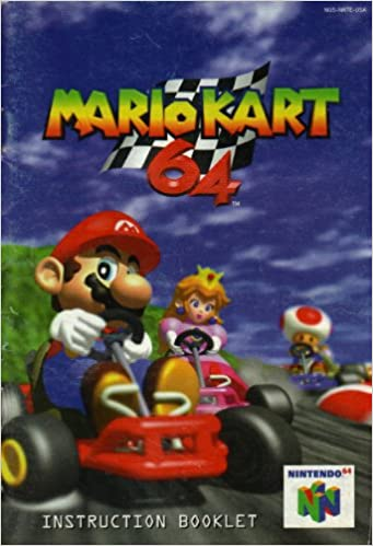 Mario Kart 64 N64 Instruction Booklet Nintendo 64 Manual