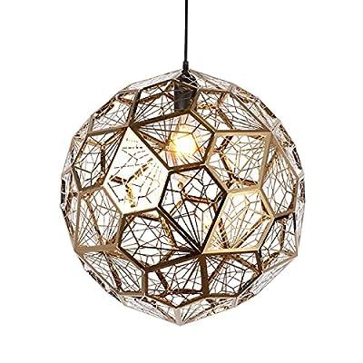Nordic Post-modern Stainless Steel Diamond Ball Pendant Lamp Metal Personality Art Bar Restaurant Coffee Shop Lamps And Lanterns