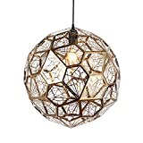 Nordic Post-modern Stainless Steel Diamond Ball Pendant Lamp Metal Personality Art Bar Restaurant Coffee Shop Lamps And Lanterns,Gold
