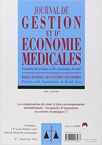 Lire un Journal de gestion et d'économie médicales : Volume 32 N°1/2014 pdf