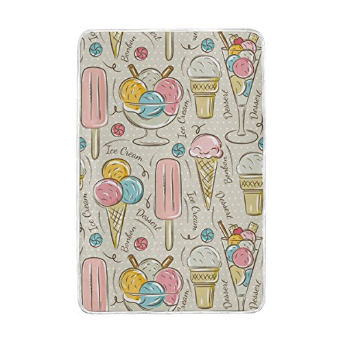 Amazon Com Alaza Vintage Ice Cream And Bonbons Polyester
