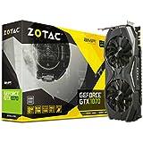 ZOTAC GeForce GTX 1070 AMP! Edition, ZT-P10700C-10P, 8GB GDDR5 IceStorm Cooling, Metal Wraparound Carbon ExoArmor exterior, Ultra-wide 100mm Fans, Spectra Lighting, PowerBoost, FREEZE fan stop