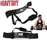 SF Arm Blaster Biceps Curl Triceps Muscle Isolator Bomber Fitness Gym Workout Training Support New (Black)