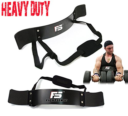 FS Arm Blaster Biceps Curl Triceps Muscle Isolator Bomber Fitness Gym Workout Training Support Black