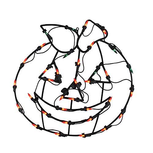 Northlight Lighted Jack-O-Lantern Halloween Pumpkin Window Silhouette Decoration, 18