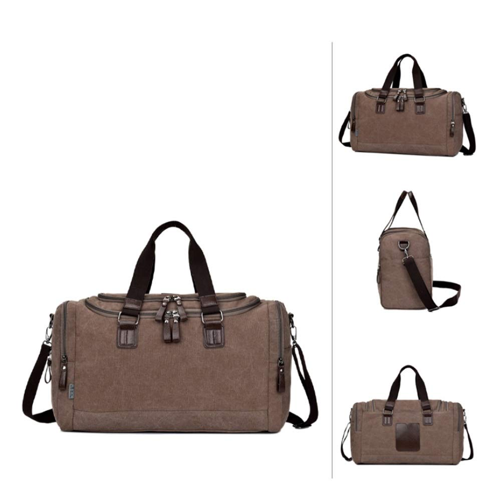 Large Capacity Travel Storage Essential, Color : Khaki Upgraded Versatile Canvas Bag Xionghaizi Duffel Bag Classic Multi-color Optional 19 Waterproof And Wearable Foldable Handbag