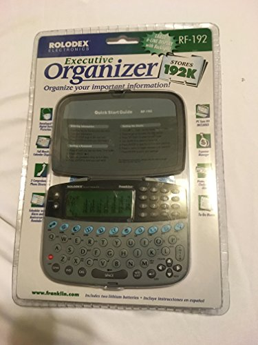 rolodex electronics executive organizer rf-192 franklin 1999 by Rolodex electronics