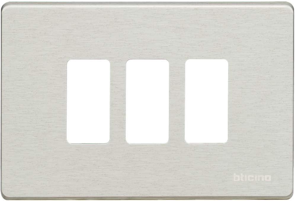Bticino magic Placa para 4 mecanismo rectangular magic oxidal