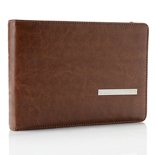 7'' Digital Professional Photo Album with leather case: Display Photos, Videos, Music and Text. Photo capacity more than 10X regular albums by Sungale