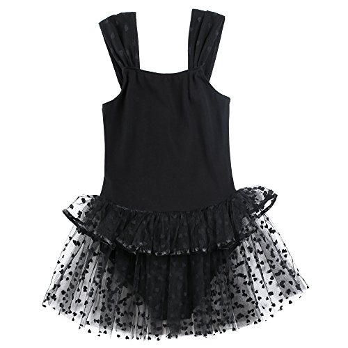 Zaclotre Girls Sleeveless Leotard Ballet Dance Costumes Tutu Dress]()
