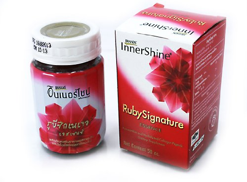 Health drink Brand's InnerShine Ruby Signature Essence 50 Ml. 3 boxes (6 bottles / box)
