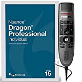 Nuance Dragon NaturallySpeaking Professional Individual Version 15 with SpeechMike Premium USB Precision Microphone - Push Button Operation