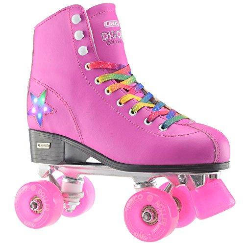 Crazy Skates Disco Roller Skate With Led Light Up Flashing