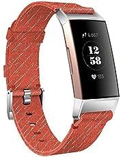 KIMILAR Armbanden compatibel met Fitbit Charge 4/Charge 3 armband stof, snelspanner, nylon reserveband voor Charge 4/3/SE fitnesstracker