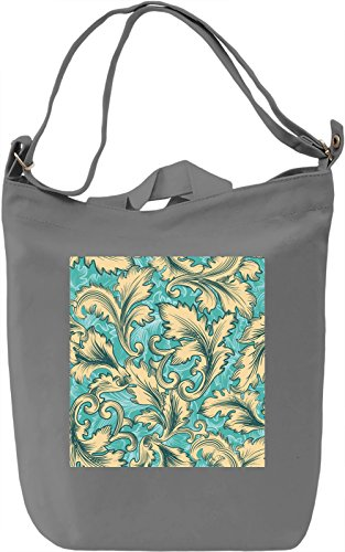 Leaf Print Borsa Giornaliera Canvas Canvas Day Bag| 100% Premium Cotton Canvas| DTG Printing|