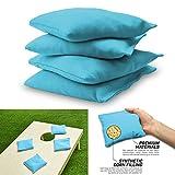 Forfar Outdoor Nylon Cornhole Bag set Set of 5 Official Cornhole Bags Bean CORNHOLE Bag Fabric ACA Regualtion 12cmX12cm