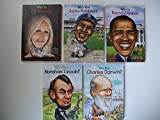 img - for Who Was Series (Set of 5) J. K. Rowling; Jackie Robinson; Barack Obama; Abraham Lincoln... book / textbook / text book