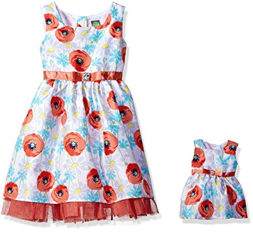 Dollie & Me Big Girls' Woven Sleeveless Floral Dress and ...