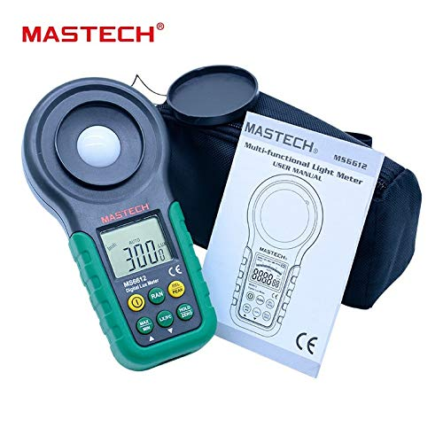 Level Measuring Instruments | Lux Meter mastech ms6612S 200,000 Lux Light Meter Test Spectra Auto Range High Precision Digital Luxmeter Illuminometer | by HERIUS