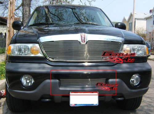 APS L85089A Polished Aluminum Billet Grille Replacement for select Lincoln Navigator Models
