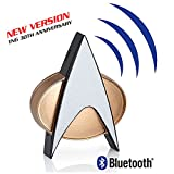 Star Trek TNG Bluetooth Communicator Badge with Chirp Sound Effect and Microphone & Speaker (New 30th Anniversary Edition)