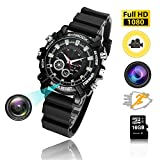 Hidden Watch Camera 16GB DVR Cameras Multifunctional Smart Wrist Waterproof Watch IR Night Vision with Cameras for Home Outdoor HD 1080P