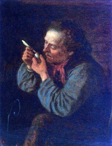 Art Oyster Eastman Johnson Lighting His Pipe - 21.1