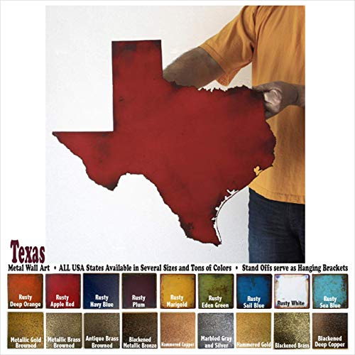 Texas metal wall art - Choose 10