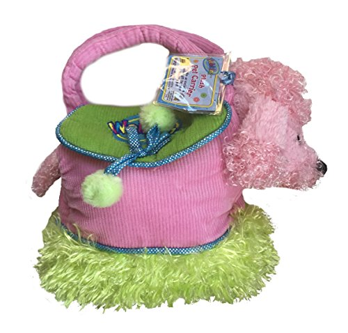 - Ganz Webinz Pink Green Pet Carrier Purse With Pink Poodle