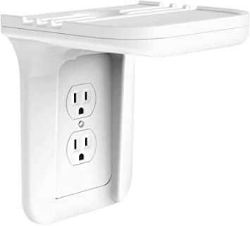 Wall Outlet  Storage Charging Socket Rack Power Perch Stand Organizer FM