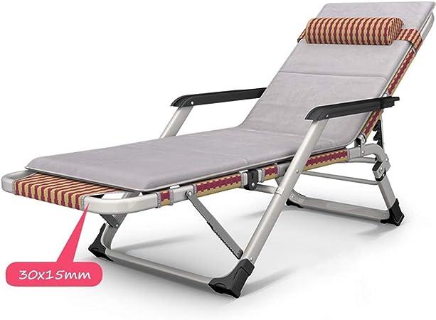 Tumbonas HAIYU- Sillón Reclinable Multifuncional, Jardín en Textilene Plegable con Respaldo Ajustable Silla Reclinable para Balcón, Camping, Playa (Color : Chair+Mat): Amazon.es: Hogar