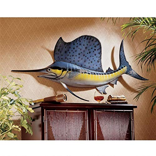 (Design Toscano Key West Sailfish Trophy Wall Sculpture)