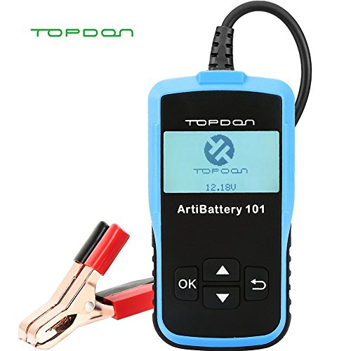 Car Battery Tester - 12v 24v Car Auto Battery Load Tester on Cranking System and Charging System Scan Tool, TT Topdon AB101 100-2000 CCA Battery Tester Automotive for Cars/SUVs/Light Trucks ()