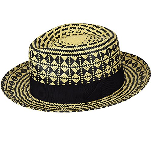 Bailey of Hollywood Mens Hartley Contrast Patterned Weave Fedora Hat