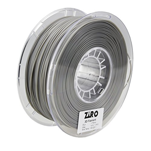 ZIRO 3D Printer Filament PLA 1.75 1KG(2.2lbs), Dimensional Accuracy +/- 0.05mm, Gray