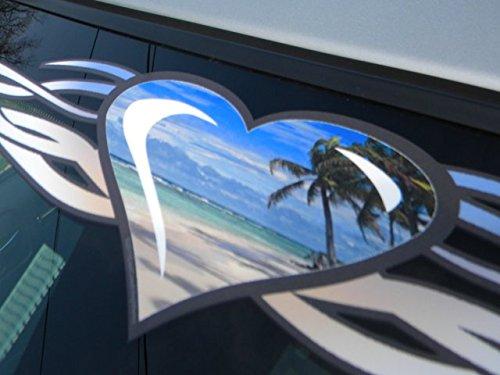 Tribal Heart - East Coast Vinyl Werkz Tribal Heart 'Beach' windshield decal banner