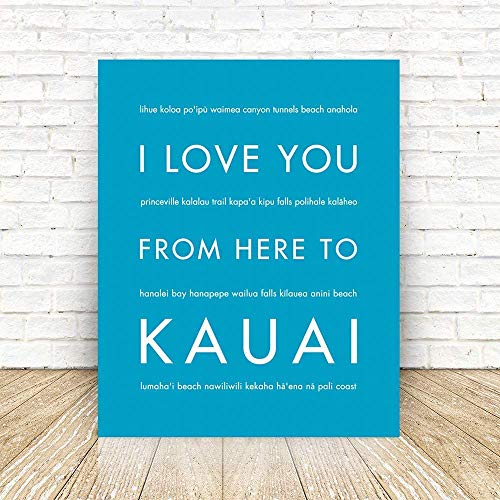 (Kauai Hawaii Unframed Art Print, Handmade Artisian Home Decor)