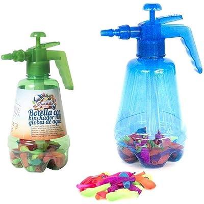 Gerimport Botella con Hinchador Y 100 Globos Agua