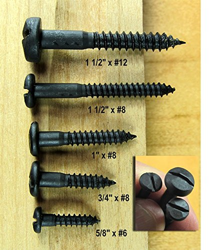 Rustic Pyramid Head Wood Screw #8 X 1 1//2 this is for a package of 24 Wild West Hardware W-RH8x150