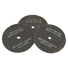 Forney 60215 Cut Off Wheel Replacements, 1-1/2-Inch, 3-Piece