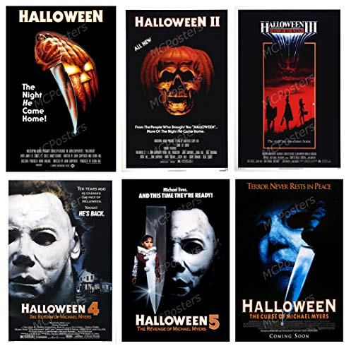 (PremiumPrints - Halloween I II III 4 5 Curse of Michael Myers 6 Movie Poster Set - MSET26 Premium Canvas 11