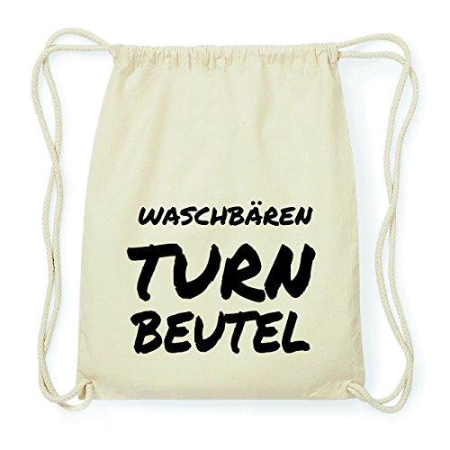 JOllify WASCHBÄREN Hipster Turnbeutel Tasche Rucksack aus Baumwolle - Farbe: natur Design: Turnbeutel yWDT0CHWB