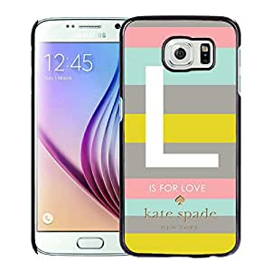 Unique And Nice Designed Kate Spade Cover Case For Samsung Galaxy S6 Black Phone Case 133