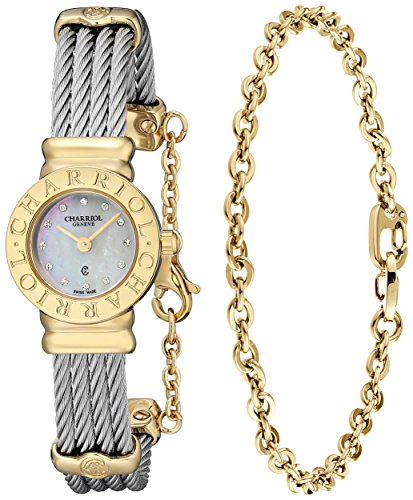 Charriol-Womens-ST20CY1520RO004-St-Tropez-Silver-Tone-Stainless-Steel-Watch-with-Bracelet