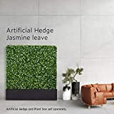 """small landscaping ideas ECOOPTS Ecoopts41 L x 62"""" H x 8.6"""" D Artificial Boxwood Hedge Divider Wall Fence with Faux Leaves with Stainless Steel Planter Box for Party Wedding Home Yard Landscaping Decore Ideas"""