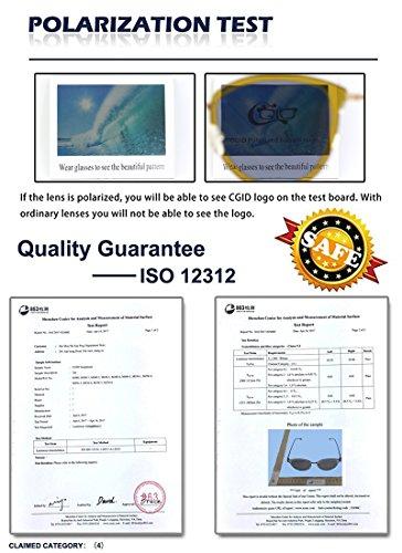 CGID MJ85 Rétro Polarisé Des lunettes de soleil Double Cercle Miroir UV400 Lentille Métal Cadre Or Rose