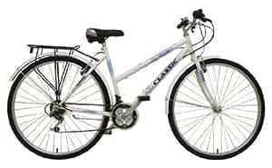 """Classic - Bicicleta de barra baja (neumáticos 700C y llanta de 19""""), color blanco"""